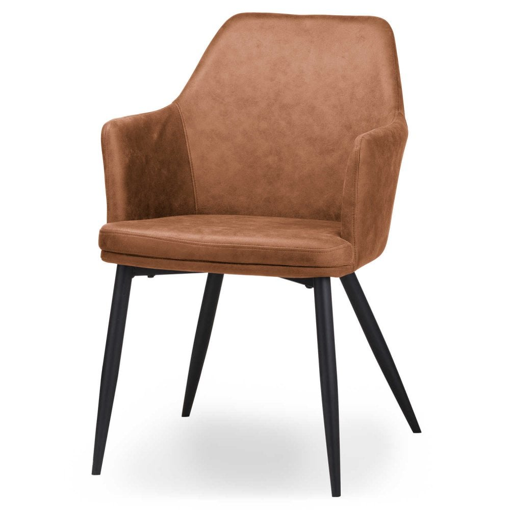 tan leather dining room chairs | Oslo Carver Tan Dining Chair faux leather - Dining Room ...