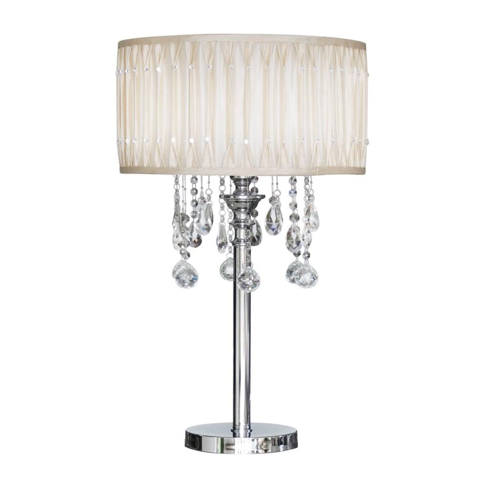 Paris chrome table lamp with crystal cut glass droplets lighting paris chrome table lamp with crystal cut glass droplets aloadofball Choice Image