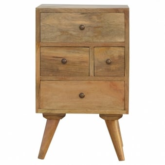 Granary Royale Scandinavian Style 4 Drawer Petite Bedside