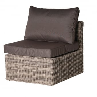 Rattan Middle Chair with Cushion