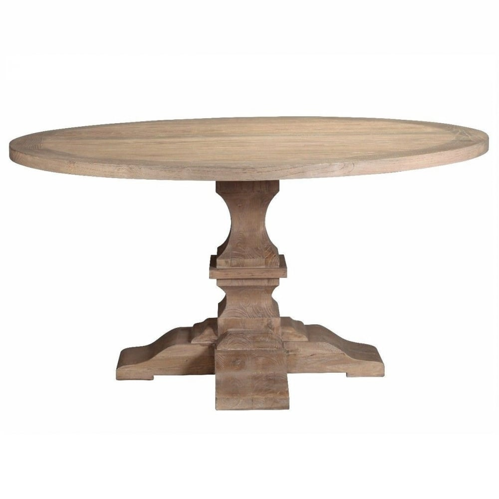 Recyled Elm Round Pedestal Dining Table