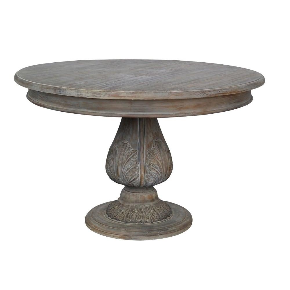 Round Pedestal Acorn Dining Table