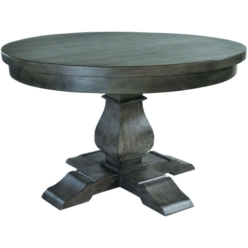 Rowico Bowood Night Dark Reclaimed Wood Round Dining Table 130cm