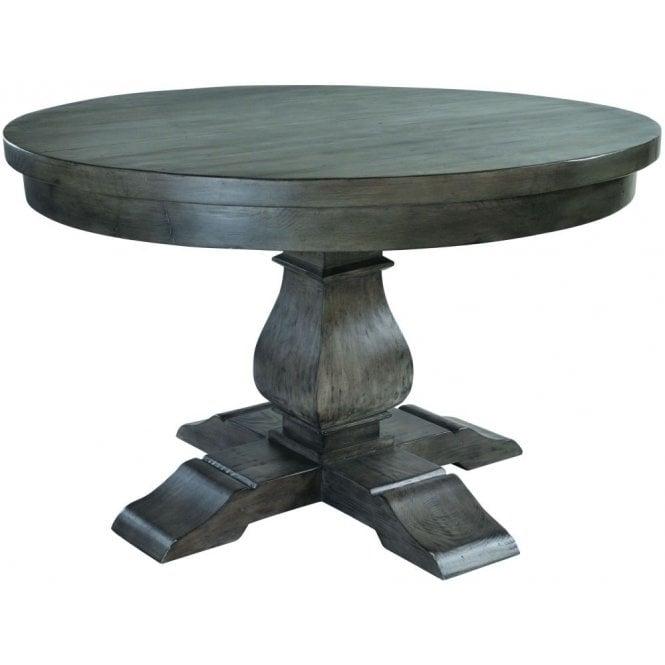 Bowood Night Dark Reclaimed Wood Round Dining Table - 130cm