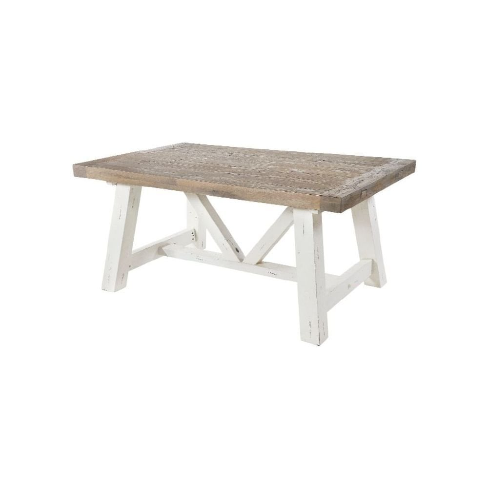 Rowico Purbeck White Painted Distressed Reclaimed Wood