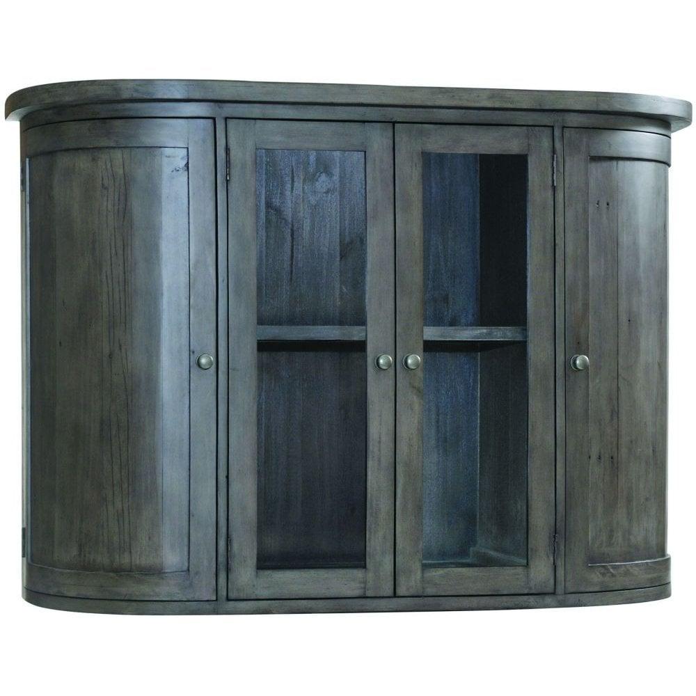 Rowico Reclaimed Wood 2 Door Glass Hutch