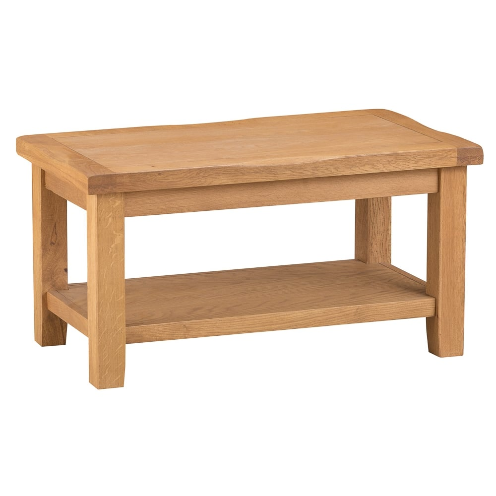 Rustic Original Waxed Oak Coffee Table Small Living Room From