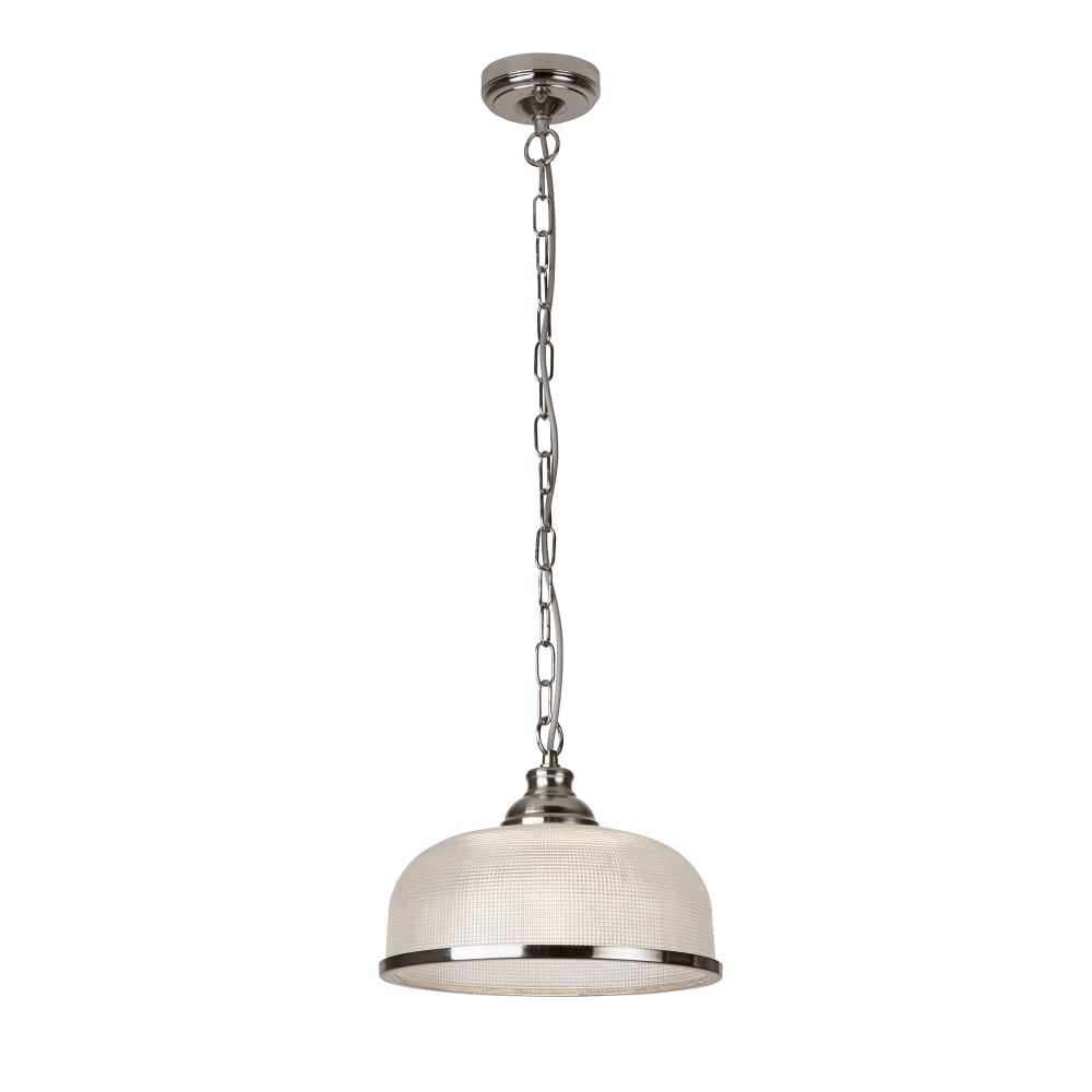 searchlight bistro ii 1 light pendant satin silver halophane