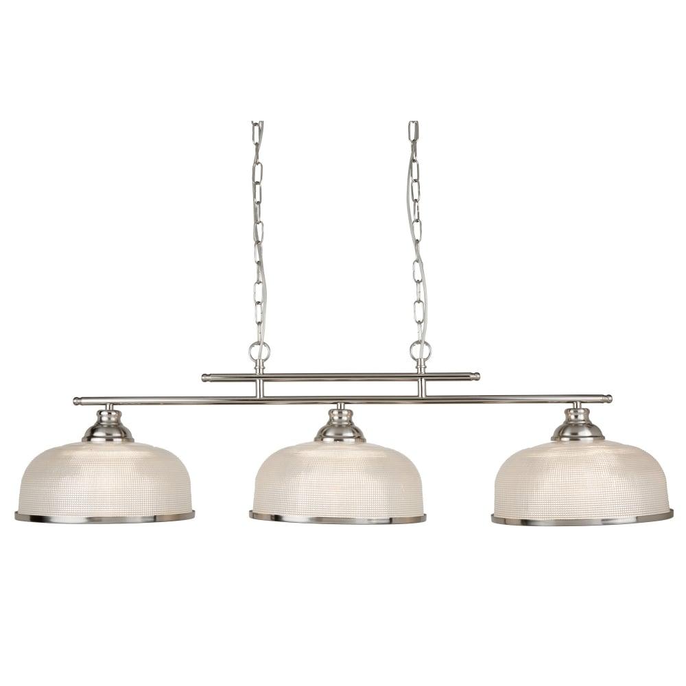 Searchlight bistro ii 3 light ceiling bar satin silver halophane bistro ii 3 light ceiling bar satin silver halophane glass aloadofball Gallery