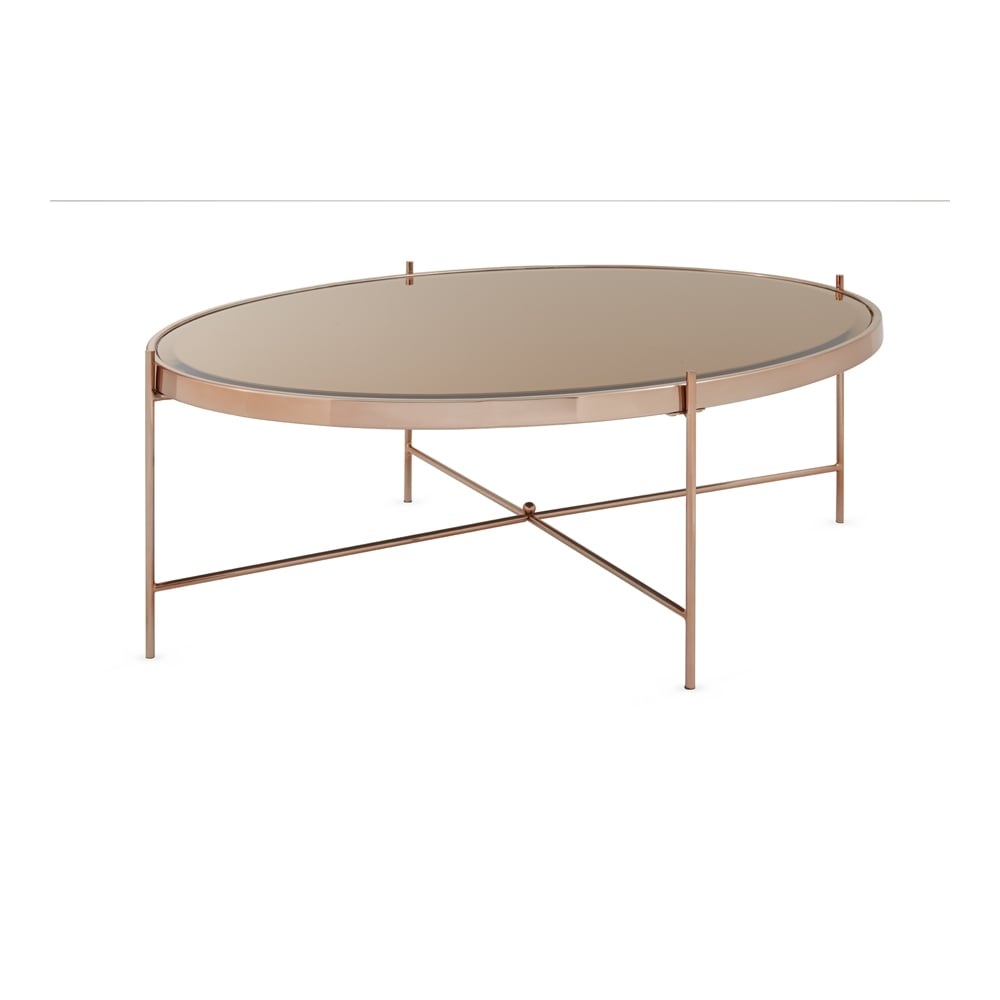 serene living taurus mirror top rose gold plated coffee table living room from breeze furniture uk. Black Bedroom Furniture Sets. Home Design Ideas
