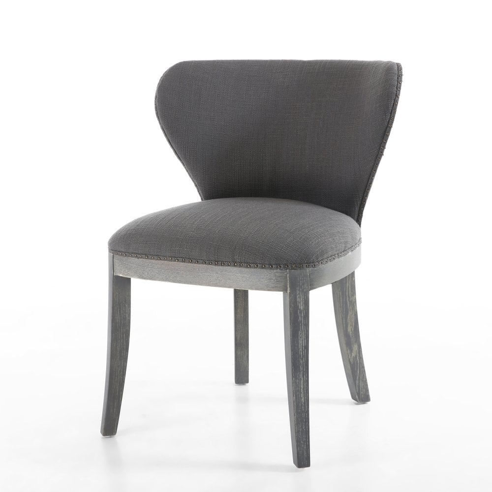 Accent Chairs Sold In Pairs.Grandure Linen Effect Antique Grey Accent Chair Pair