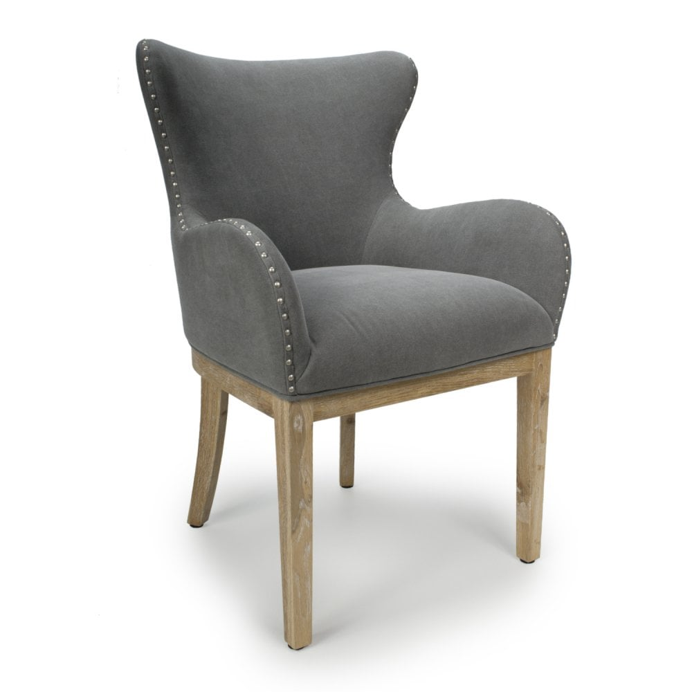 Tremendous Stanton Low Curved Wing Back Dusky Cotton Grey Accent Chair Home Interior And Landscaping Spoatsignezvosmurscom