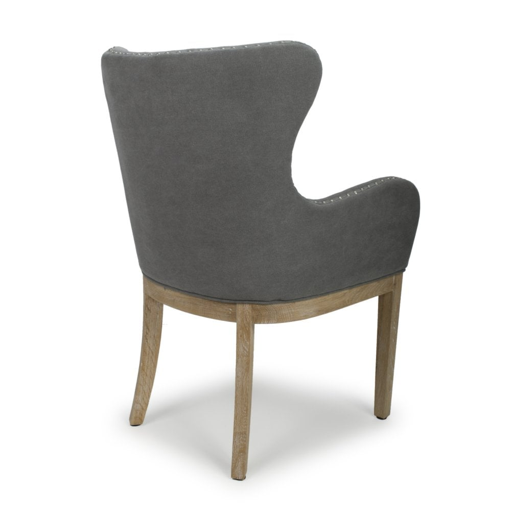 Pleasing Stanton Low Curved Wing Back Dusky Cotton Grey Accent Chair Pabps2019 Chair Design Images Pabps2019Com