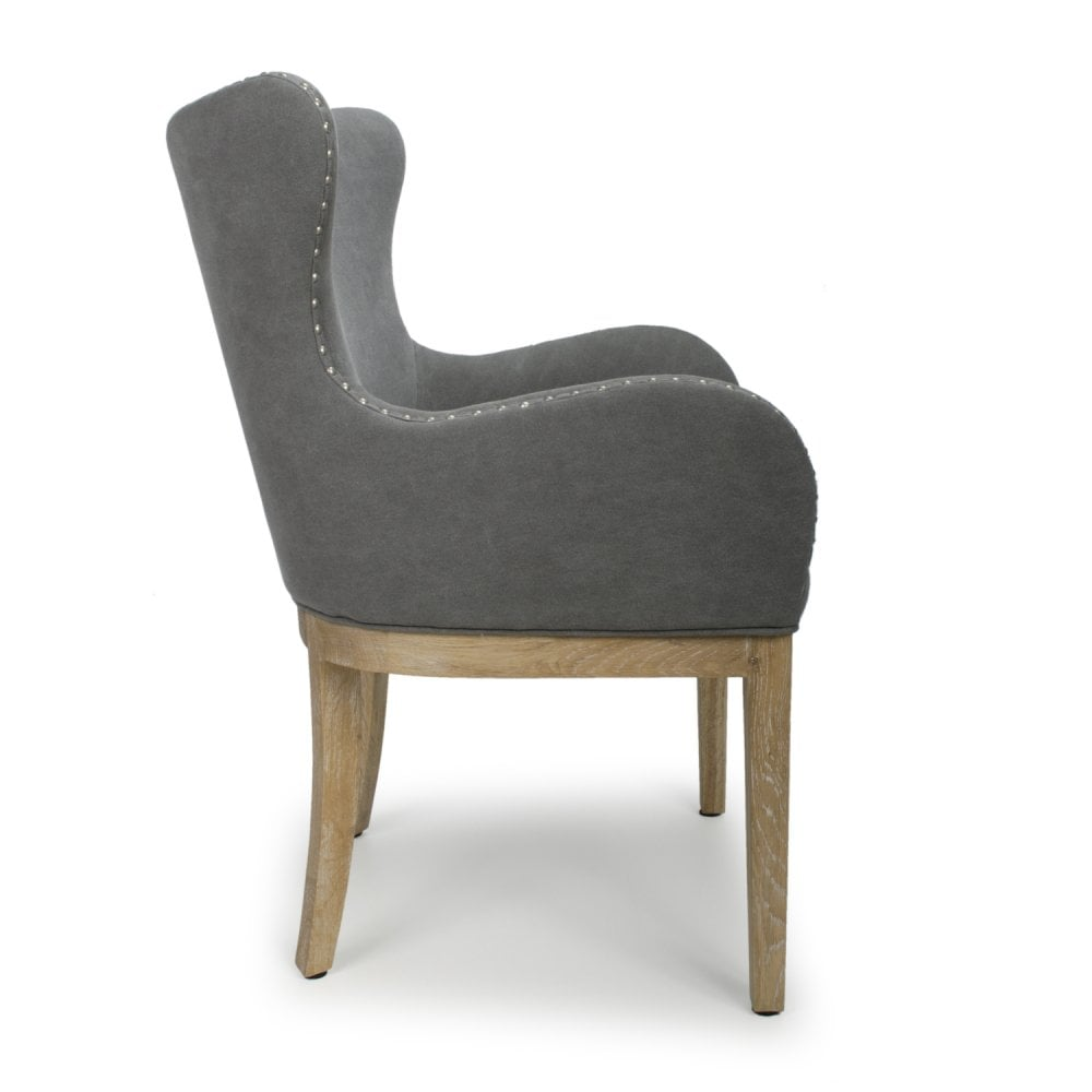 Peachy Stanton Low Curved Wing Back Dusky Cotton Grey Accent Chair Home Interior And Landscaping Spoatsignezvosmurscom