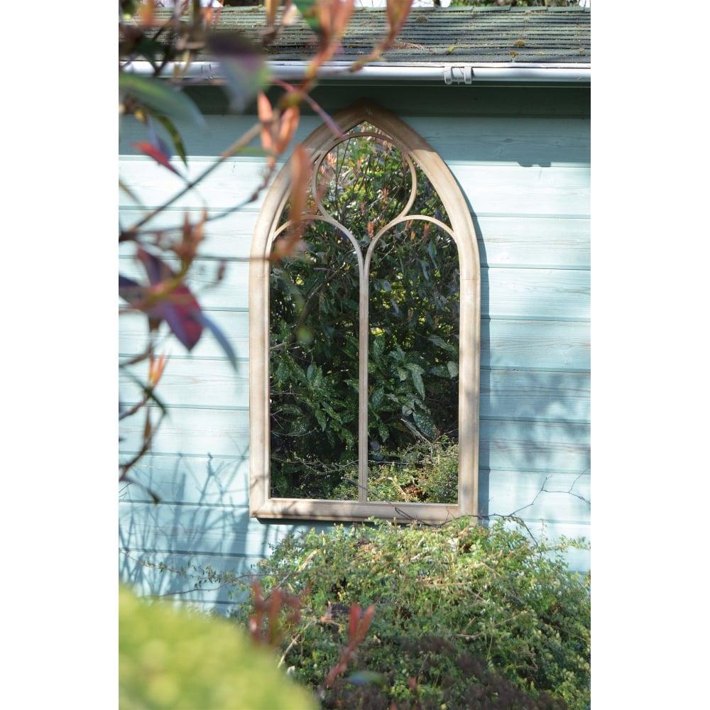 Sombrely Cream Chapel Arch Garden Mirror