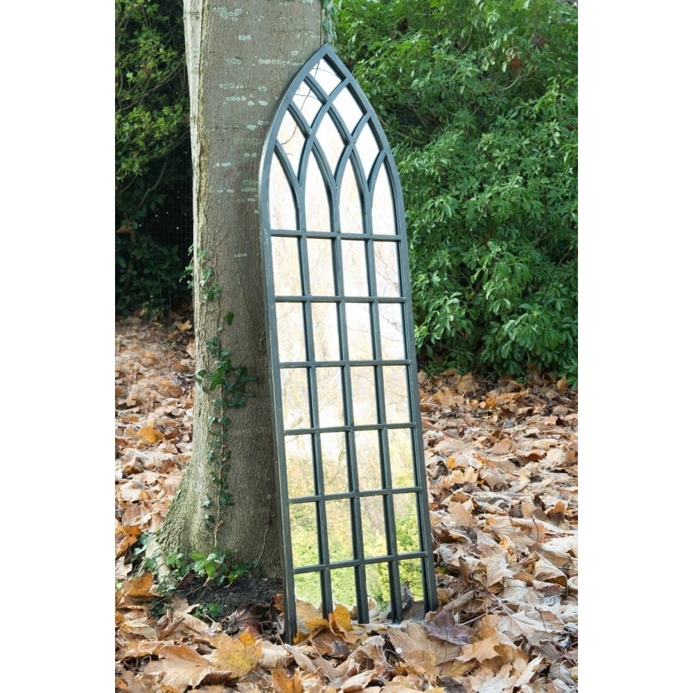 High Quality Somerley Rustic Arch Large Garden Mirror