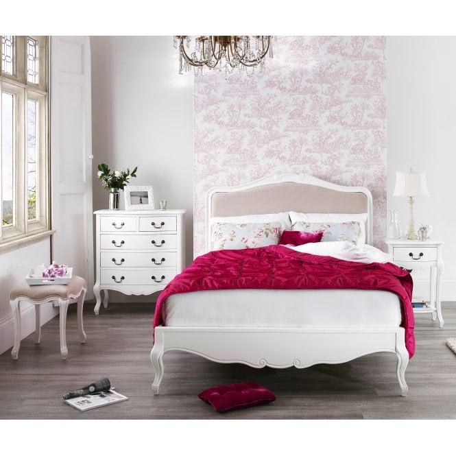 Juliette Shabby Chic Upholstered Bed