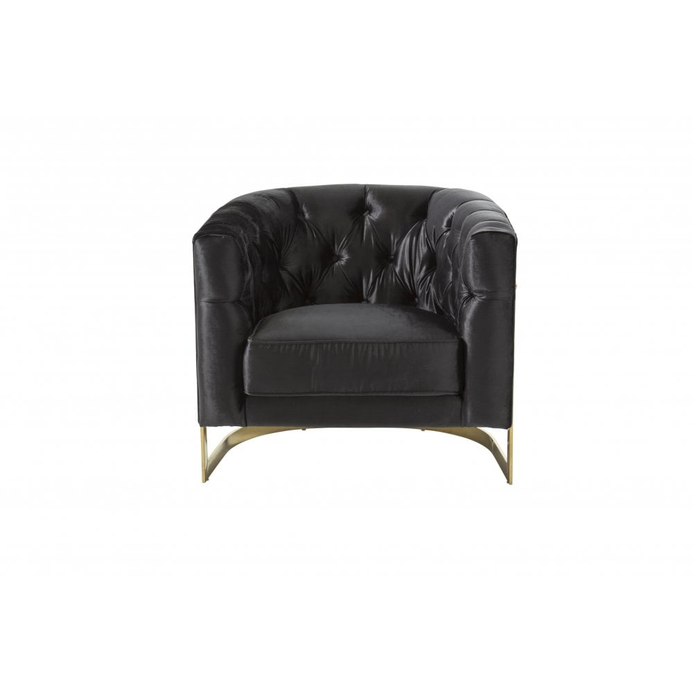 Mia Upholstered Chair With Gold Legs