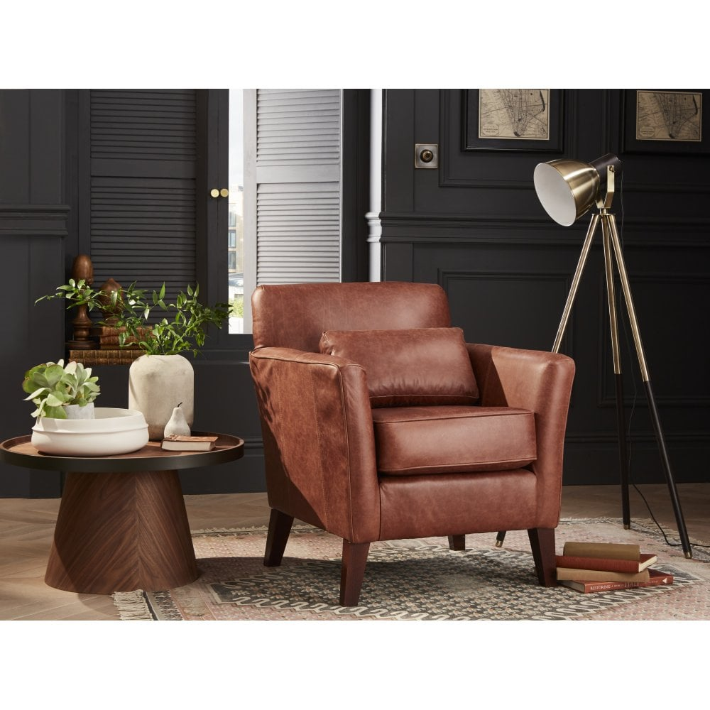 Pleasant Compton Leather Accent Chair Pdpeps Interior Chair Design Pdpepsorg