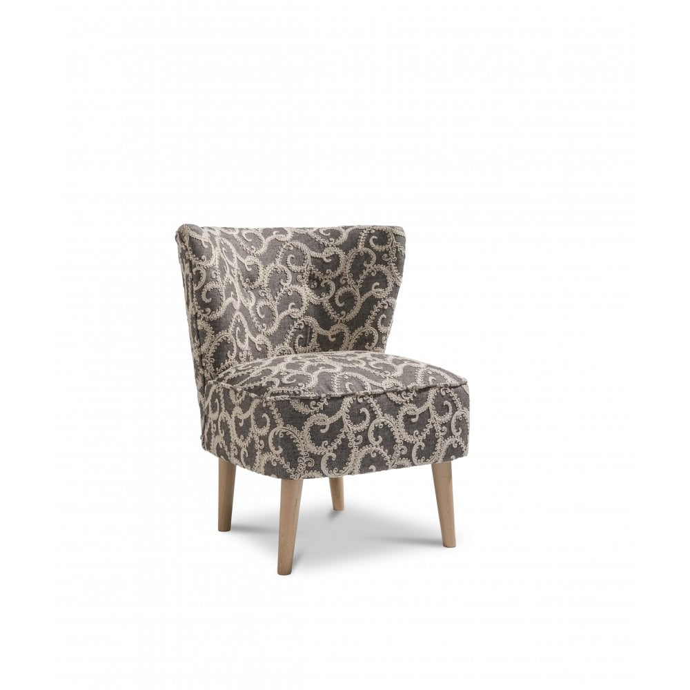 Grey Patterned Accent Chair Interesting Inspiration