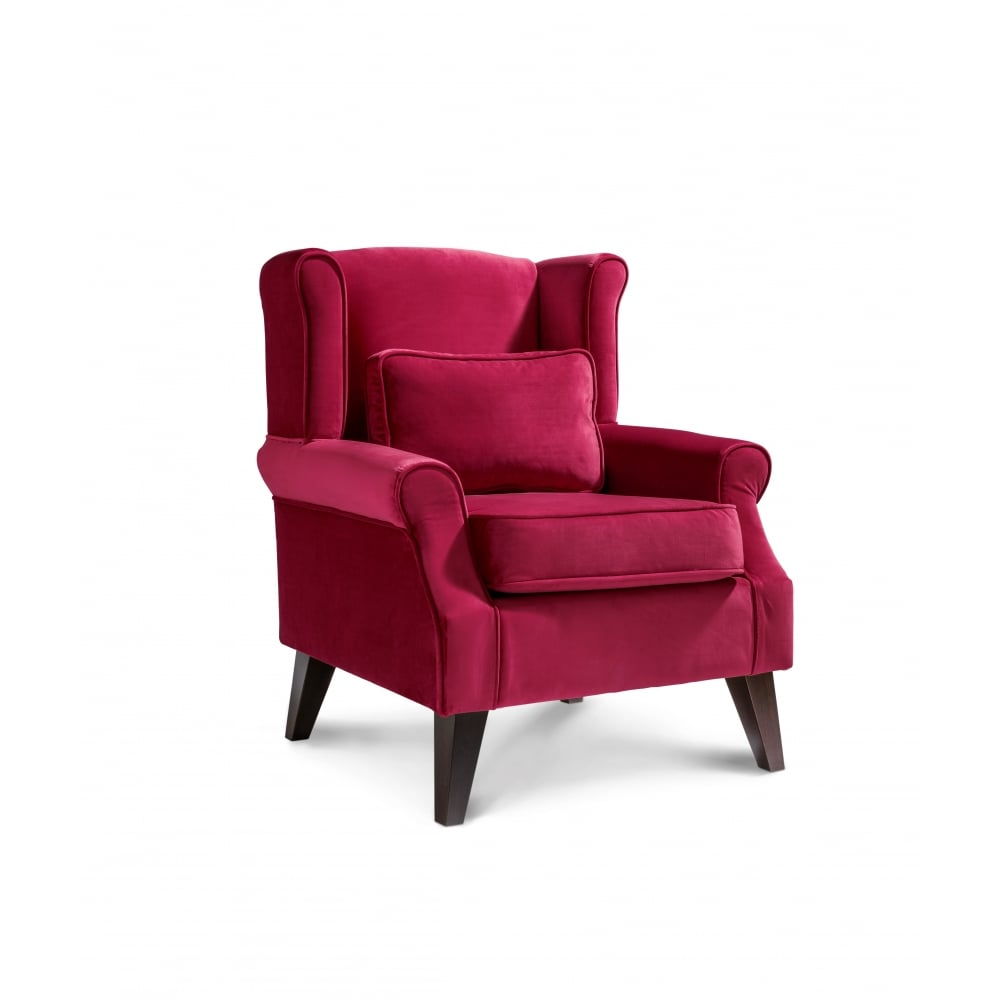 The Great Chair Company Wroxton Plush Velvet Accent Chair Living