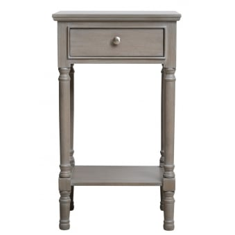 Value Taupe Montana 1 Drawer Telephone Table