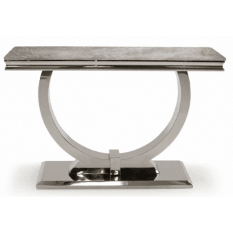 Arianna Marble Console Table Grey