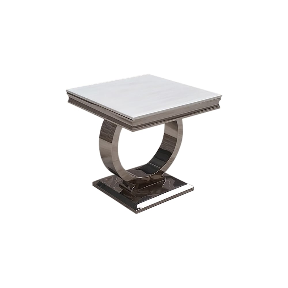 Vida Living Arianna Marble Lamp Table Cream Living Room From