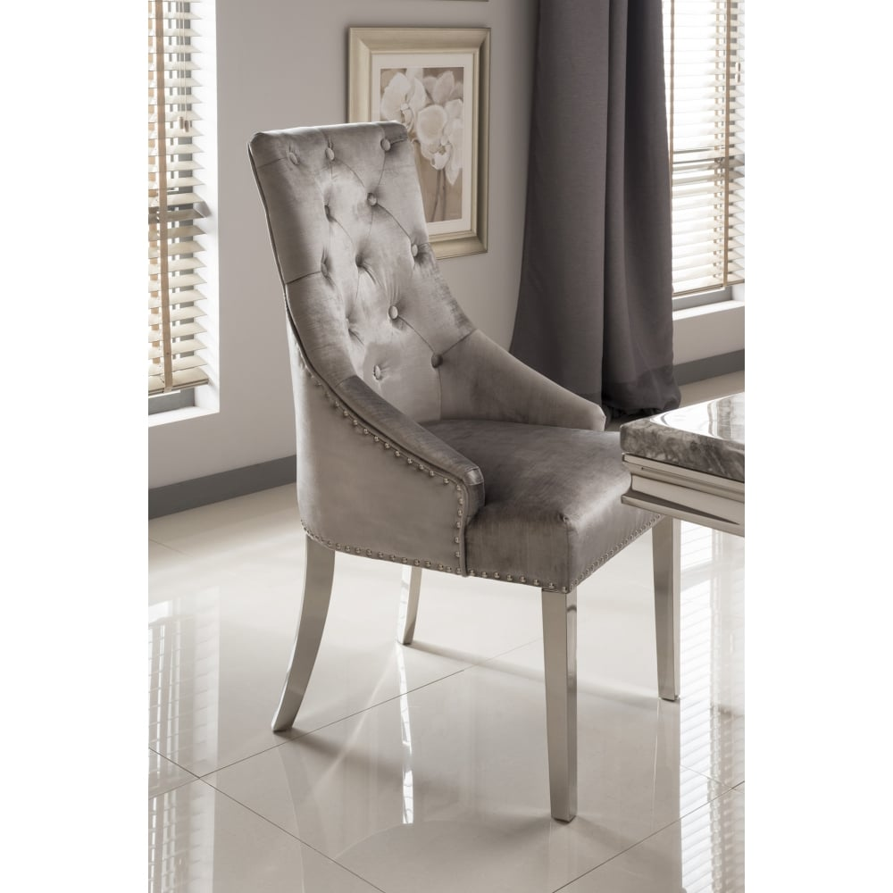 Nice Belvedere Furniture #12 - Belvedere Knockerback Dining Chairs - Pewter