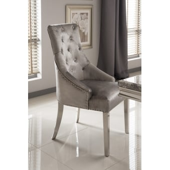 Belvedere Knockerback Dining Chairs - Pewter