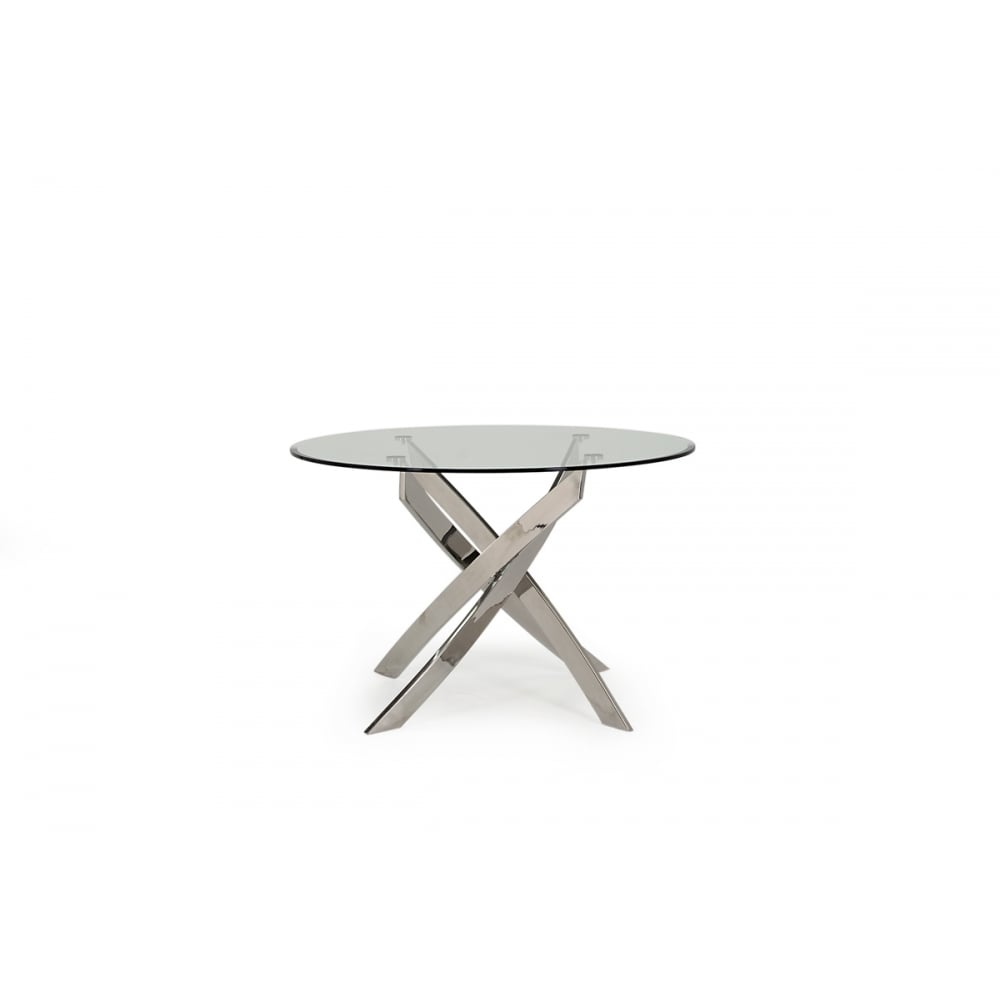 Vida Living Kalmar Round Glass Top Dining Table Dining Room From