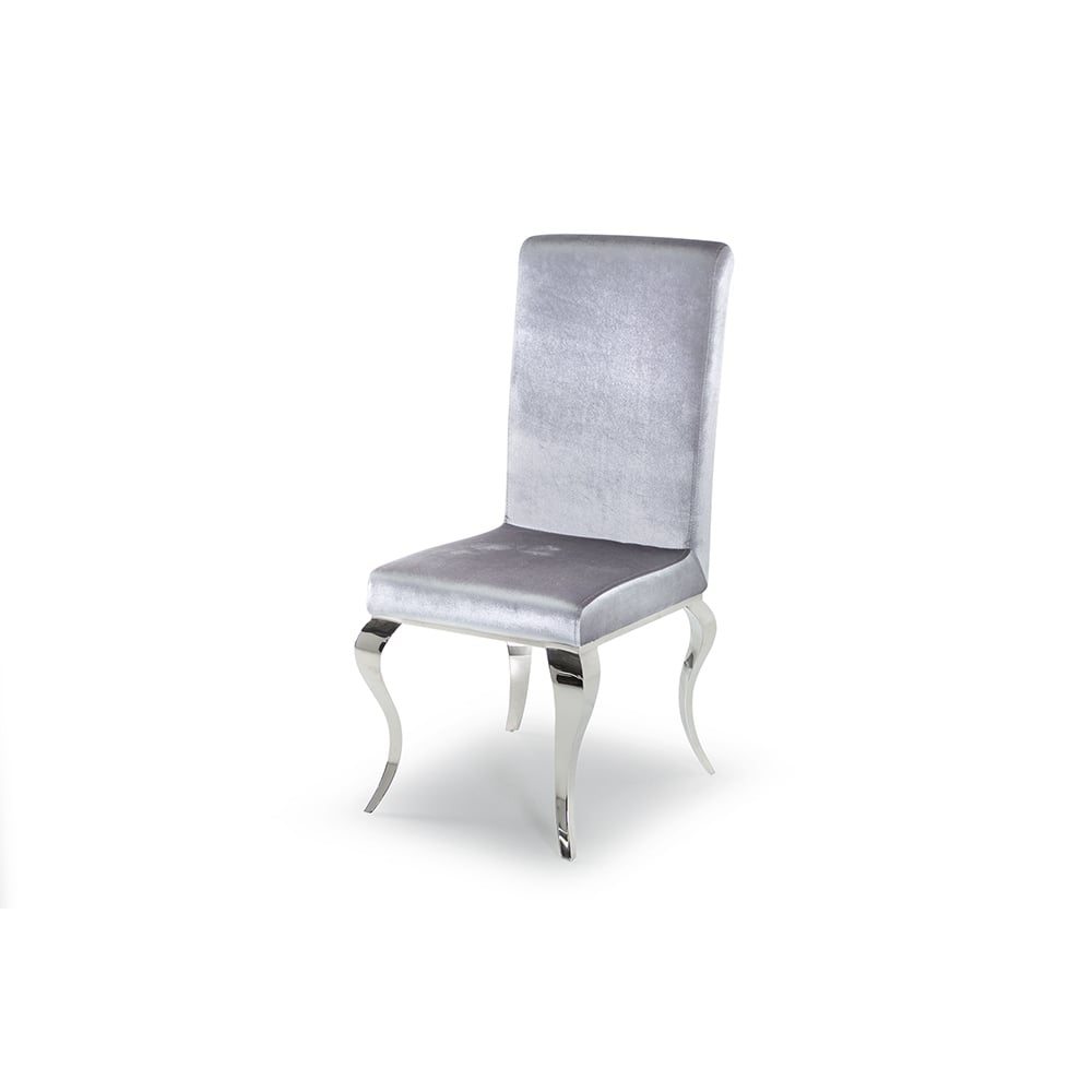 Louis Silver Dining Chair (Set Of 2)