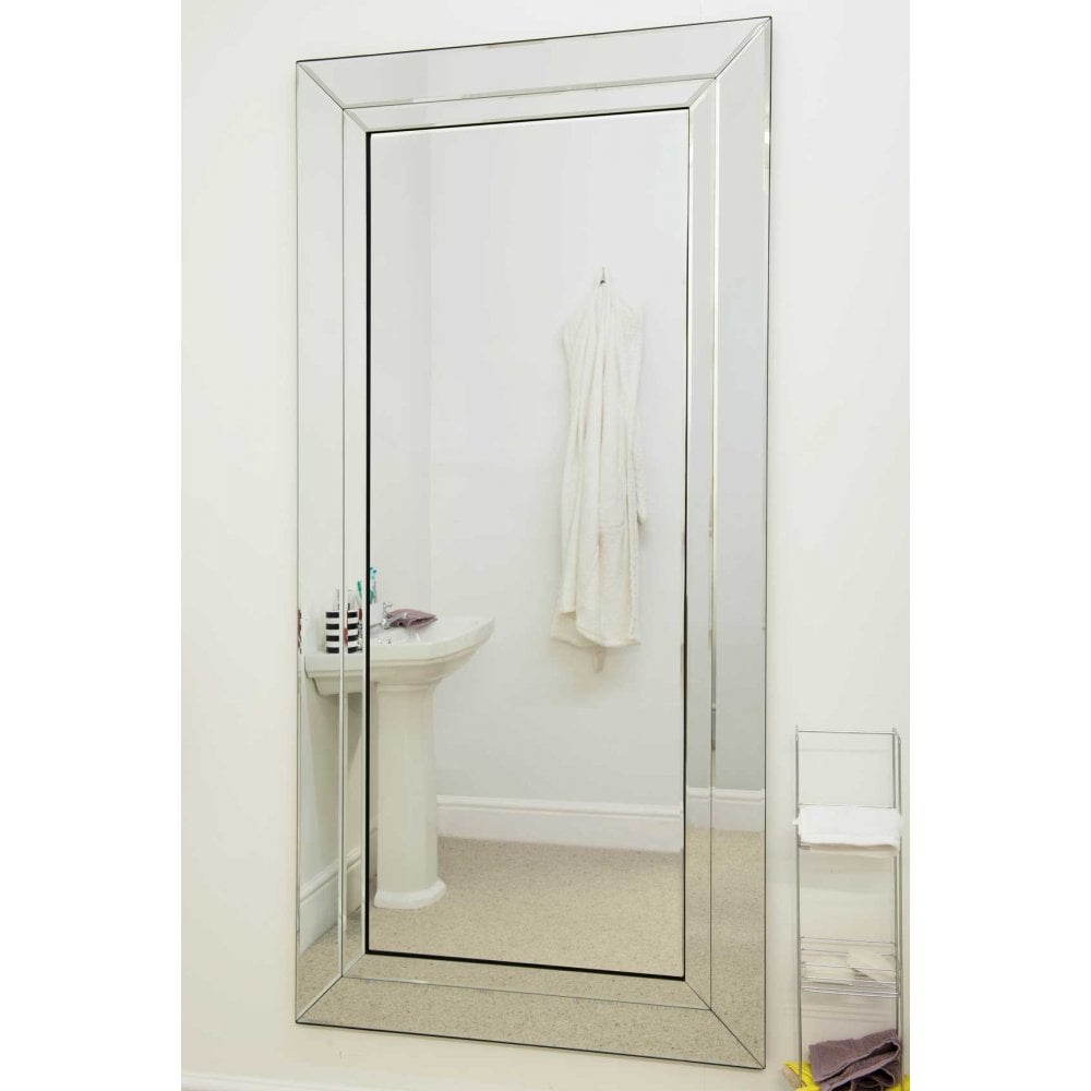 Welwyn All Glass Double Edge Full Length Bathroom Mirror Accessories From Breeze Furniture Uk