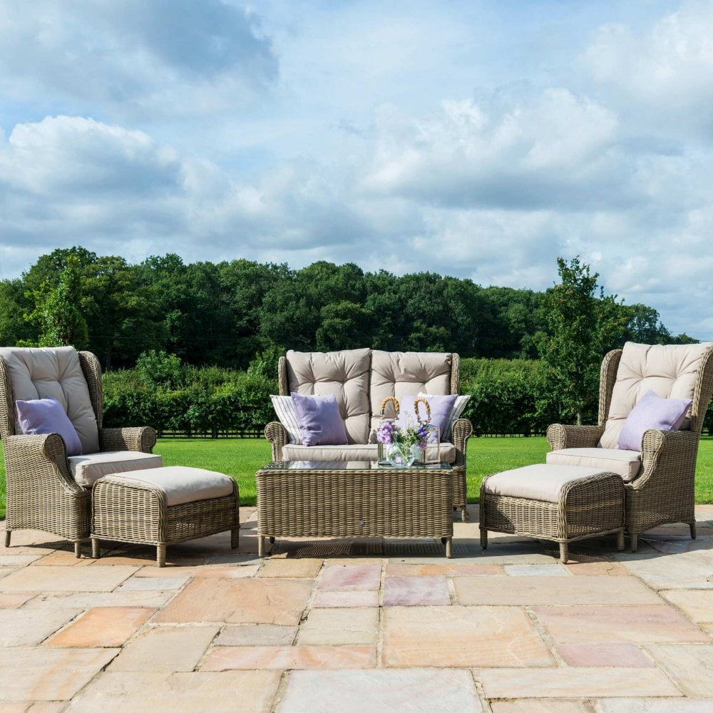 Outdoor Patio Couch Set, Winchester High Back Sofa Set Outdoor Living From Breeze Furniture Uk