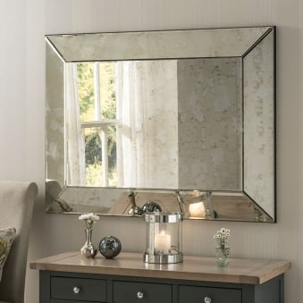 Bordeaux Antique Silver Mirror