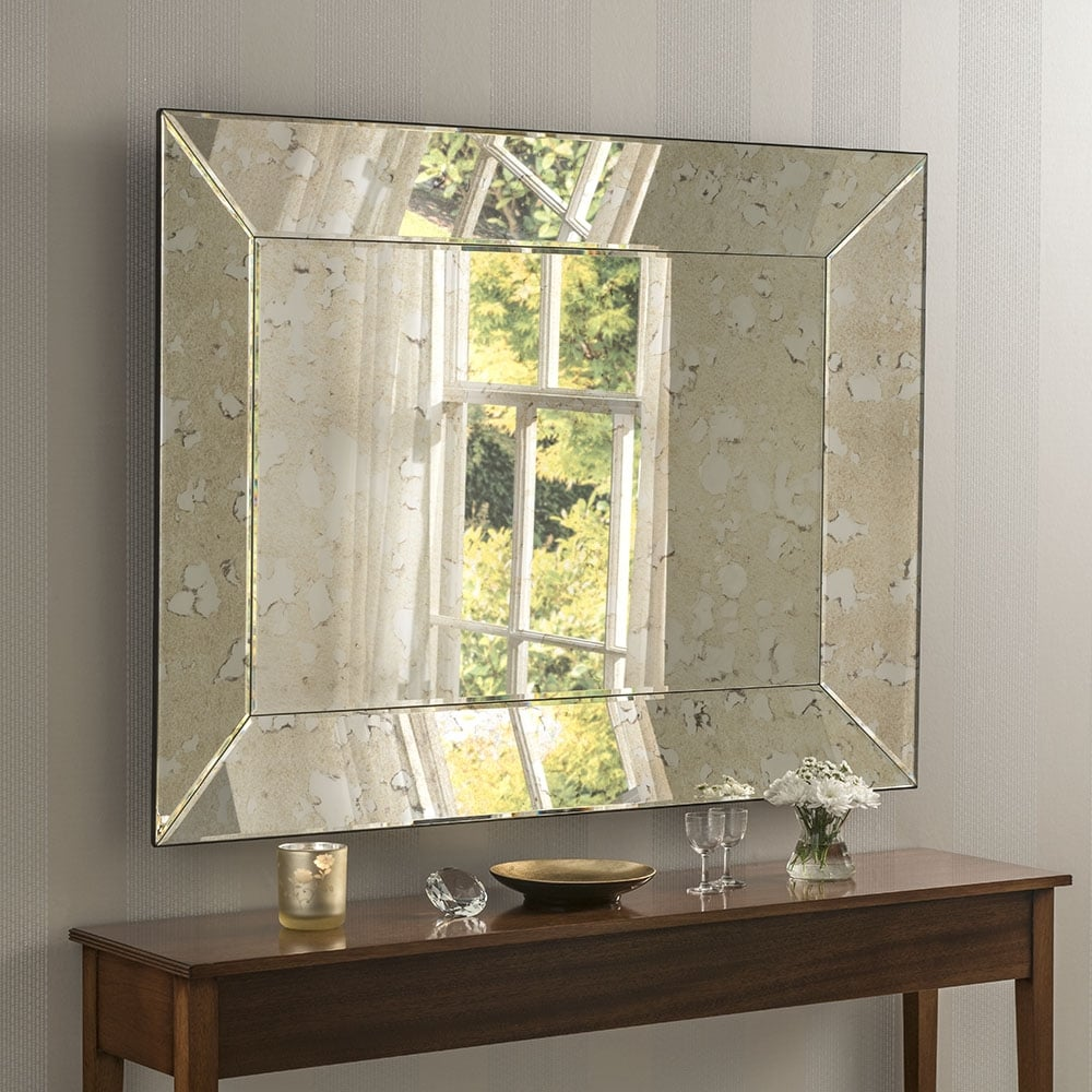 Lyon Antique Silver Mirror - Accessories from Breeze ...