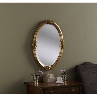 Rose Detailed Oval Mirror