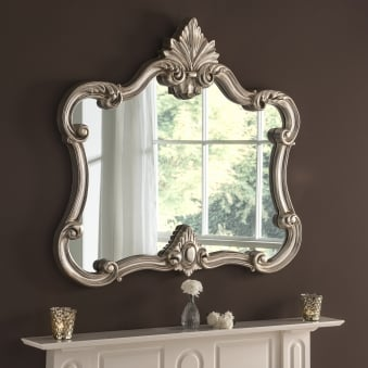 Soft Silver Leaf Decorative Mirror